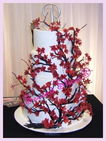 wedding cakes edmonton ab cherry blosson red fort saskatchewan wedding cakes 24253