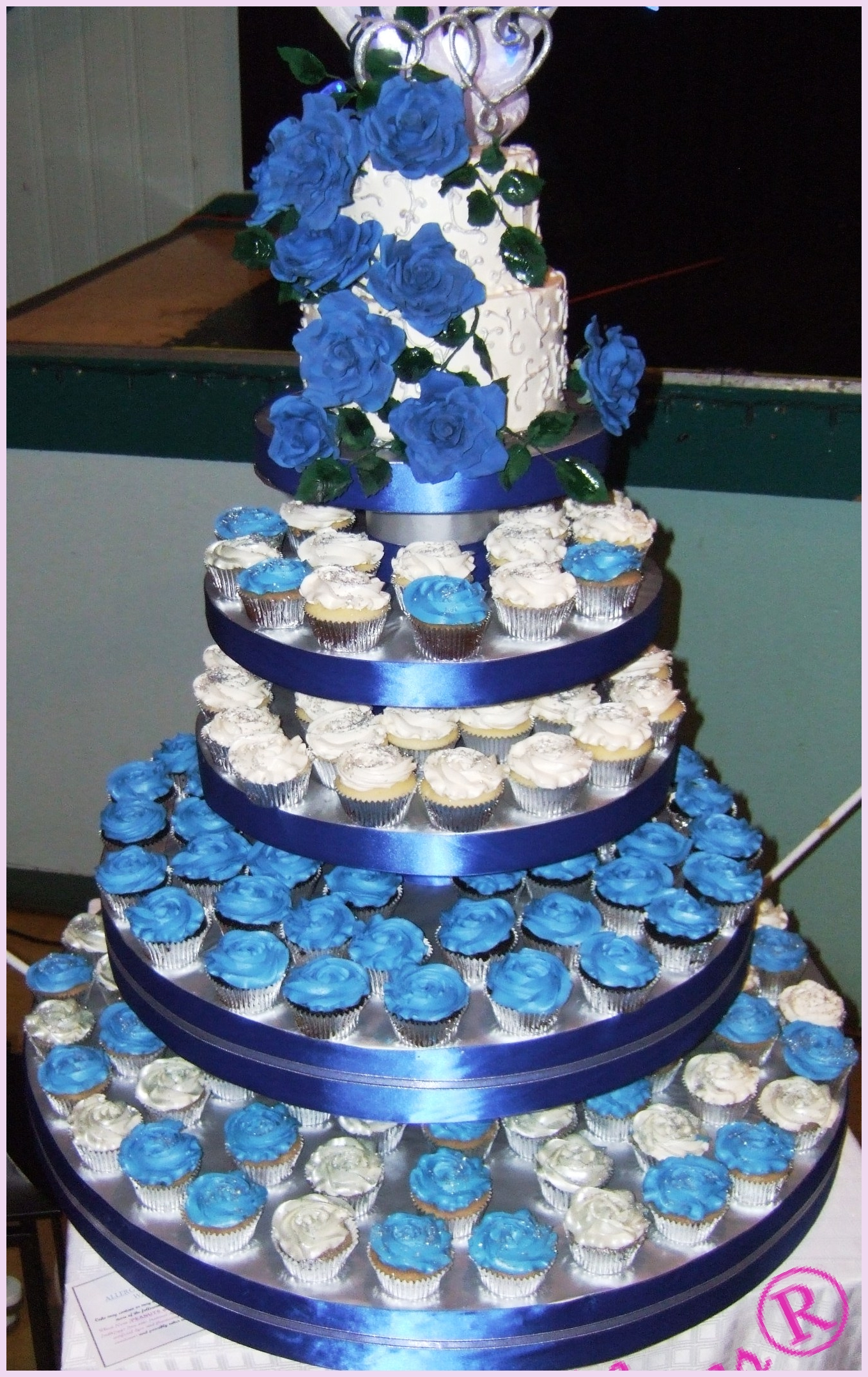 wedding cakes and cupcakes edmonton royal blue silber cupcake tower wedding cakes cupcakes 23789