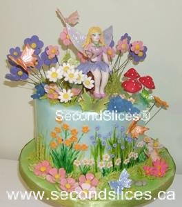 Garden Flowers Butterflies Girls Birthday Cake Edmonton Sherwood Park Bakery Shop Seconslicesca